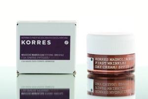 Korres-Magnolia-Bark-Day-Cream-for-First-Wrinkles-SPF15Tagescreme-mit-Magnolienrindenextrakt-fuer-erste-Faeltchen-40ml